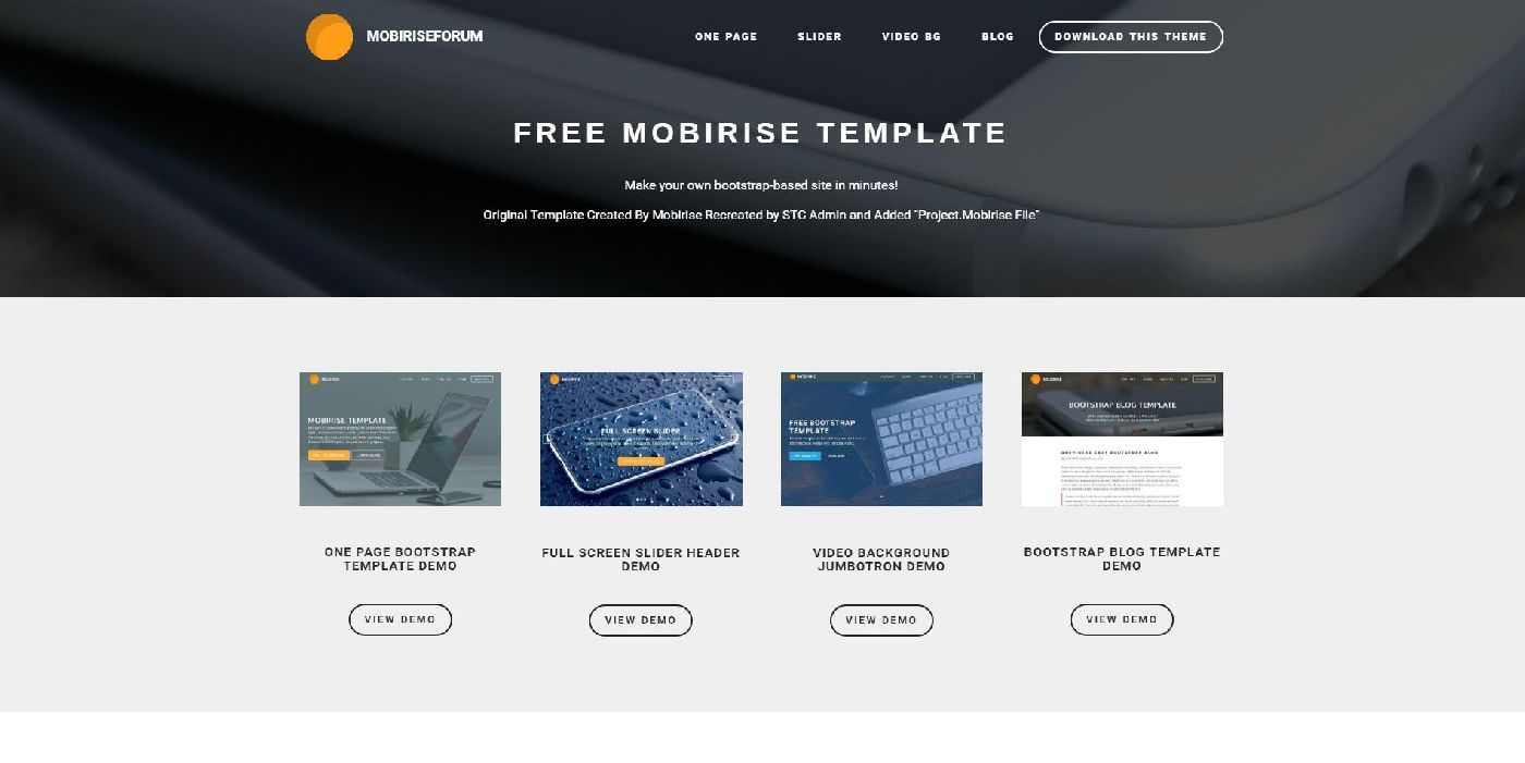 Mobirise Free Templates For Download